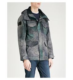 Canada Goose Voyager Hooded Shell Jacket In Sandstorm Camo Navy Army Surplus, Canada Goose, Parka, Military Jacket, Hoods, Camo, Shell, Mens Fashion, How To Wear