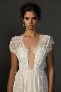 When our Genevieve and Australian super model Samantha Harris met, it was love at first sight! The most stunningly romantic dress in our Untamed Romance collection. xx Grace Loves Lace Untamed Romance collection. www.graceloveslace.com.au #weddingdress #bohemianwedding #laceweddingdress #lace