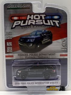 Chevrolet C10 Cheyenne DELAWARE STATE POLICE Hot Pursuit Greenlight 1:64 OVP NEU