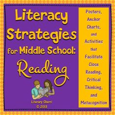 Middle Schoolers are still learning HOW to read well and they need grade-appropriate strategies! These posters, anchor charts, and bookmarks are created to teach and reinforce reading strategies to adolescents! Special attention is paid to close reading, metacognition, and repairing reading when meaning breaks down. Use these in all content areas to help students transfer reading skills to all subjects!