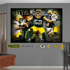 Fathead Green Bay Packers Clay Matthews Montage   Wall Sticker Outlet Part 73