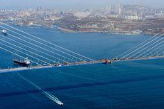 Открытие моста на остров Русский. Фото: Юрий Смитюк/ИТАР-ТАСС