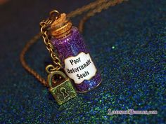 Ursula Poor Unfortunate Souls Necklace with a Lock Charm, Bronze, Disney Little Mermaid, by Life is the Bubble on Etsy, $16.00