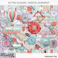 In the clouds Digital Scrapkit | WendyP Designs