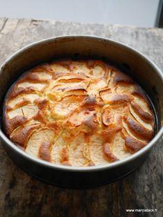 Gâteau gourmand pommes et crème fraîche