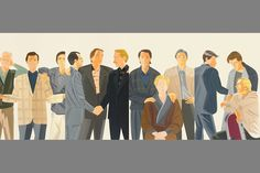 Alex Katz, Twelve Hours, 1984. Oil on linen, 168 x 264 inches.