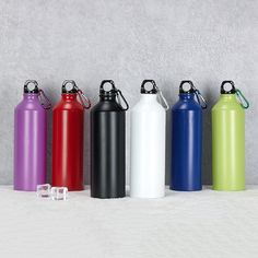 Sinlge wall Aluminum Water bottle in 500ml & 600ml & 750ml Capacity. Any color is available upon your request.  China factory supply directly with your logo Thermal Flask, Thermal Bottle, Stainless Water Bottle, Aluminum Water Bottles, Coffee Flask, Water Flask, Camping Cups, Stainless Steel Coffee Mugs, Insulated Mugs