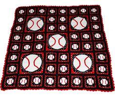 Ravelry: Grand Slam Baseball Crochet Afghan pattern by Kathy Pack
