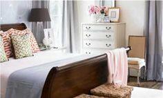 We love this pretty purple bedroom! Love the purple! Dark Wood Bedroom Furniture, Arranging Bedroom Furniture, Furniture Arrangement, White Furniture, Furniture Ideas, Arrange Furniture, Mismatched Furniture, Bedroom Arrangement, Apartment Furniture
