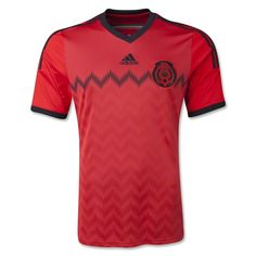 According to adidas: The new away kit of the Mexican team stands out through an innovative combination of red and black, reinterpreting classic jerseys of the national team worn in previous World Cups. This colour combination was first used in Uruguay 1930 through to Sweden 1958.