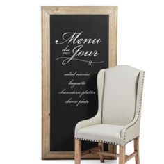 Wedding Signage - Z Gallerie - Create your own messages, list everything from the menu du jour to shopping lists on our Pine Framed Chalkboard.  The black surface is framed with a thick carved pine wood ready to hang horizontally or vertically.