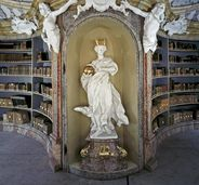 "Allegorical figure ""Human Knowledge"", circa 1750, Library Hall at Weblingen, Germany"