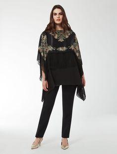 Mi chiamano Mimì...   Marina Rinaldi FATALE nero: Casacca in raso stampa foulard.