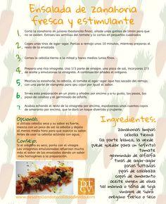 Ensalada de #zanahoria fresca y estimulante