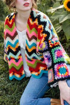 Crochet Jacket, Crochet Shawl, Knit Crochet, Crochet Magazine, Crafty Projects, Crochet Fashion, Crochet Clothes, Knitwear, Anthropologie