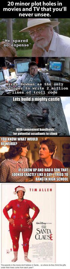 Big plot holes in movies…
