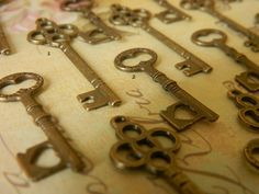 32 replica skeleton key charms steampunk by GlowberryCreations, $11.99