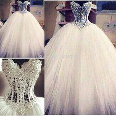 bling wedding dresses | Fashion 2015 Dazzling Vestido de Noiva Latest Design Ball Gown Wedding ...