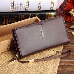 Factory Wholesale Creative popular casual men clutch long section high-capacity zipper wallet hangbag