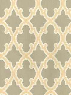 Ornamental Gate Trellis Wallpaper | AmericanBlinds.com