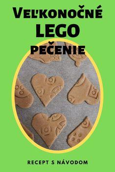 Recept na keksíky potlačené pečiatkami z Lega. Užite si veľkonočné pečenie s deťmi. #velkanoc #predeti #predskolskeaktivity #preskolakov #recepty #napady Lego, Cookies, Personalized Items, Desserts, Food, Biscuits, Legos, Meal, Deserts