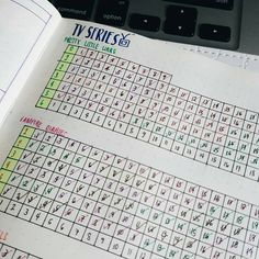 """TV Series tracker. :D #bujolove #bujo #BulletJournal"""