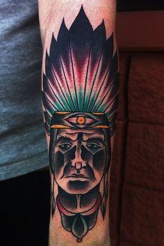 indian tattoo old school - Cerca con Google