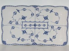 Royal Copenhagen Blue Fluted Half Lace, VERY RARE LARGE TRAY for ice cream PRE23