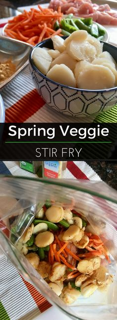 Spring is in the air & it's delicious! Skip the takeout and whip up this Spring Veggie Stir Fry instead. Much healthier, but still full of flavor.   Clearly Organic Nutritionist Corner. #StirFry #Organic #EatClean