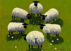 The ever popular home and gift range from artist Thomas Joseph. Featuring paintings heavily influenced by the Irish and Scottish landscapes, as well as the antics of the local sheep and their animal friends. Ewe are guaranteed to smile at the baaad puns! Sheep Art, Sheep And Lamb, Naive Art, Pablo Picasso, Rock Art, Farm Animals, Painting Inspiration, Pet Birds, Painting & Drawing