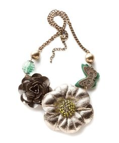 Look at this #zulilyfind! Gold 'Wish' Flower Necklace #zulilyfinds