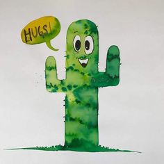Who doesn't like hugs? This is a cactus painting from a series of illustrations for kids. More coming soon. So #follow and Stay tuned. . . . #cactus #kids #kidsroom #playroom #kidsillustration #artforchildren #painting #poster #artdecor #watercolor  #children #artoftheday #print #color #artprint  #kaktus #gallery #vlastnymirukami