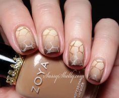 Sassy Shelly: Nails and Attitude: Reverse Gradient Giraffe & Crown Ring GIVEAWAY! ~ Digit-al Dozen Monochrome Week: Day 5