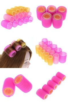 [Visit to Buy] 15pcs/lot Hairdressing Home Use DIY Magic Large Self-Adhesive Hair Rollers Styling Roller Roll Curler Beauty Tool 3 Size #Advertisement