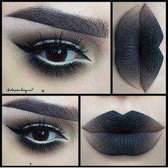 Gothic alternative ombre makeup