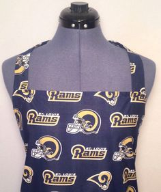 Saint Louis Rams Full Size BBQ Apron with by AuntShellDesigns