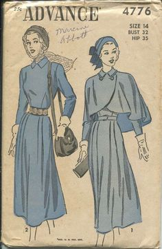 Advance 4776 ERA: 40s - This pattern makes me think of the Beauxbatons' uniforms