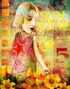 Sunshine © Beth Todd - All Rights Reserved Created with Tumble Fish Studio 'Cut ApART No.1' @ MischiefCircus.com. A digital image kit for your art, collage, mixed media art and scrapbooking. #photomanipulation #digital #art #scrapbook #collage #artjournaling #atc