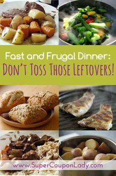 """Don't Toss Those Leftovers!"""" to learn how to use common dinner leftovers to create great dinners!! http://www.supercouponlady.com/2013/09/dinners-from-leftovers.html/"""