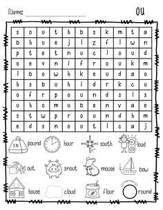 Vowel Digraph Teams Word Sort Set (oi, oy, ai, ay, ou, ow