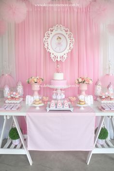 Baby Shower Ideas For Girls Tutus Decoration 26 Ideas Ballerina Baby Showers, Baby Shower Princess, Ballerina Birthday Parties, Ballerina Party, Tutu Decorations, Birthday Party Decorations, Baseball Birthday Party, Baby Birthday, Shower Party
