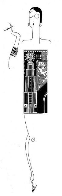 deco NYC flapper by lattona, via Flickr