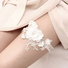 White wedding garter set, bridal garter belt with chiffon flowers - style Wedding Underwear, Wedding Lingerie, Perfect Wedding, Our Wedding, Dream Wedding, Lace Wedding, Wedding Dress, Wedding Night, Wedding Beauty