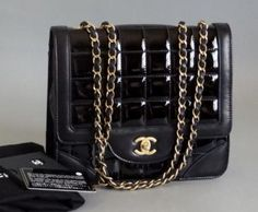 Chanel Black Medium Patent Flap Bag