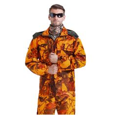 Cheap ghillie suit, Buy Quality leaf suits hunting directly from China suit ghillie Suppliers: Hunting Shooting Clothing Jacket & Pants Set Ghillie Suit in Blaze Orange Camo Maple Leaf Waterproof Bird Hunt Clothes Mens Hunting Clothes, Hunting Pants, Hunting Jackets, Ghillie Suit, Sniper Suit, Camouflage, Tactical Suit, Shooting Clothing, Hunting