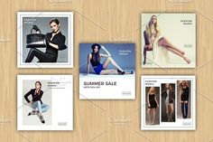 Instagram Advertisement Banners-V381 by Template Shop on @creativemarket