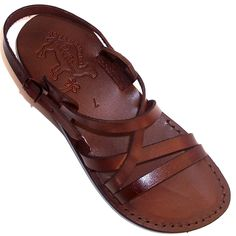 f9e5db92a9ce Unisex Adults Children Genuine Leather Biblical Sandals   Flip flops (Jesus  - Yashua) Jesus - Yashua Style II - Holy Land Market Camel Trademark
