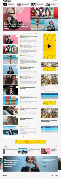 The NextNews theme is excellent for a news, newspaper, magazine or publishing site. It uses the best clean SEO practices, and on top of that, it's fast, simple, and easy to use. In addition, NextNews supports responsive Google Ads and AdSense. #wordpress #themewor