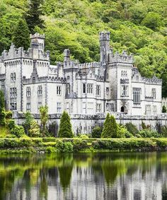 Kylemore Abbey Castle, County Galway, Ireland.