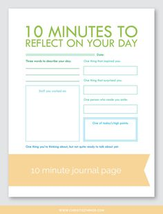 10 Minute Printable Guided Journal Pages — Christie Zimmer Daily Journal, Journal Prompts, Journal Pages, Journal Ideas, Nature Journal, Art Journals, Writing Prompts, Writing Tips, Coping Skills